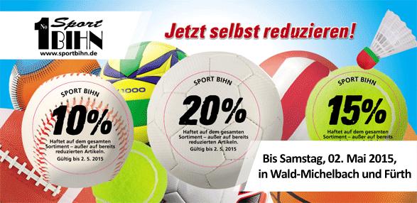 Am Ball bleiben und 3x sparen! 10% 15% 20%