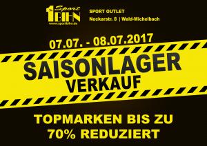 Saison-Lagerverkauf 2017 im Sport-Outlet